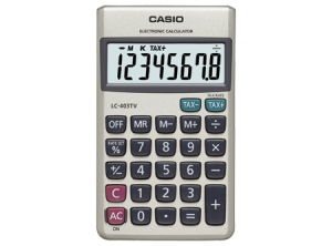 Calculadora Casio Basica Bolsillo TAX LC-403 TV-W