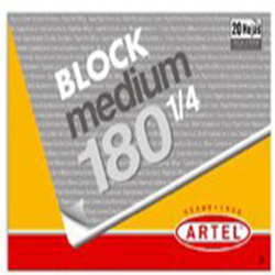 Block Dibujo Artel Medium 180 1/4 20hj