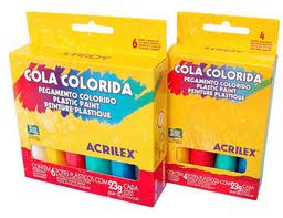 Cola Colorida Acrilex 4 colores 23 gr.