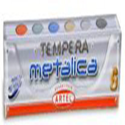 Tempera Artel Met�lica 6 colores 15 ml