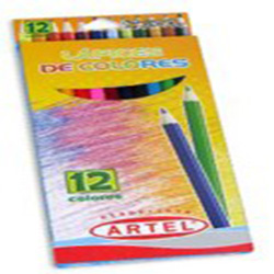 Lapiz Color Artel 12 Colores Largo