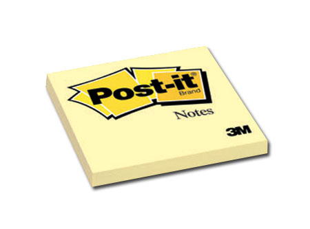 Post-it 3M #654 Amarillo Mediano