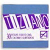 Papel Tiziano 160gr. A4 Pack 50 hj colores