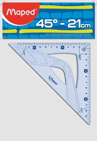 Escuadra Maped graphic 45� - 21cm.