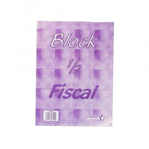 Block Borrador 1/2 Fiscal 7mm Fiscalito