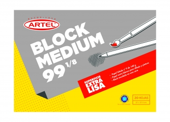 Block Dibujo Artel  Medium 99 1/8 20hj 27x37.5