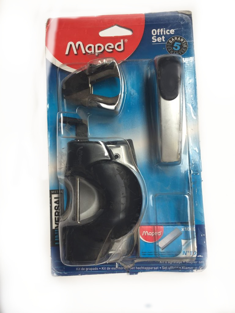 Set Maped Perforadora Corchetera Corchete y Sacacorchete