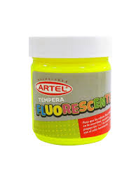 Tempera Artel Fluor 100 ml Amarillo